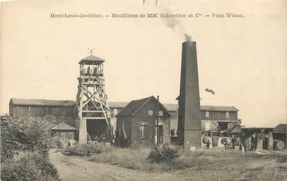 "CPA FRANCE 71 ""Montchanin les Mines, Houillères Schneider et Ciee, Puits Wilson""."