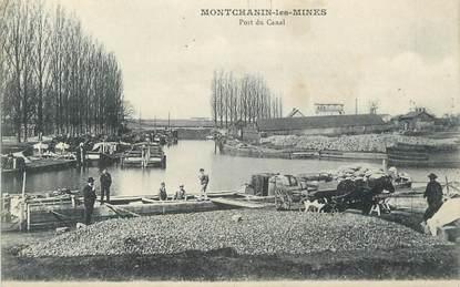 """CPA FRANCE 71 """"Montchanin les Mines, Port du canal"""". / PENICHE"""