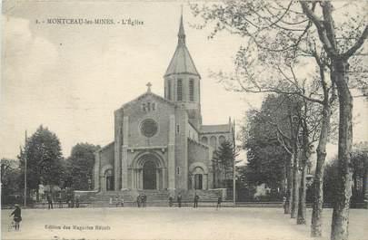 """CPA FRANCE 71 """"Montceau les Mines, L'église""""."""