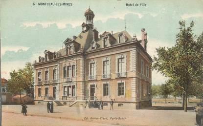 """CPA FRANCE 71 """"Montceau les Mines, Hôtel de Ville""""."""