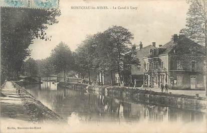 """CPA FRANCE 71 """"Montceau les Mines, Le canal à Lucy""""."""