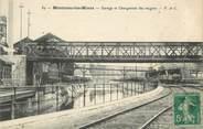 """71 SaÔne Et Loire CPA FRANCE 71 """"Montceau les Mines, Garage et chargement des Wagons"""". / VIGNETTE"""