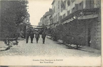 "CPA FRANCE 71 ""Mâcon, Les grandes fêtes nautiques rue Victor Hugo""."