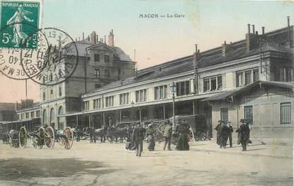 """CPA FRANCE 71 """"Mâcon, La gare'."""