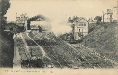 """CPA FRANCE 71 """"Mâcon, L'intérieur de la gare""""."""