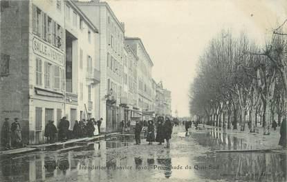 "CPA FRANCE 71 ""Mâcon, Promenade du Quai Sud, Inondations de janvier 1910"". / INONDATIONS"