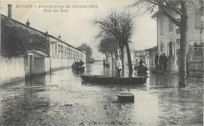 "CPA FRANCE 71 ""Mâcon, Rue du gaz , Inondations de janvier 1910"". / INONDATIONS"