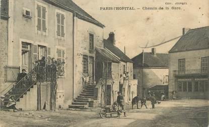 """CPA FRANCE 71 """"Paris - L'Hopital, Chemin de la gare""""."""