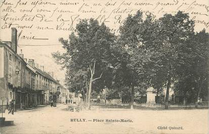 """CPA FRANCE 71 """"Rully, Place Ste Marie""""."""