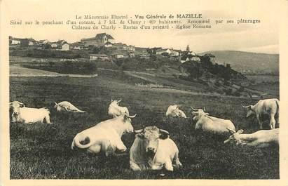 """CPA FRANCE 71 """"Mazille, Vue générale""""."""