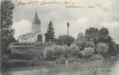 """CPA FRANCE 71 """"Ratenelle, Eglise""""."""