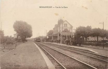 """CPA FRANCE 71 """"Romanèche, Vue de la gare""""."""