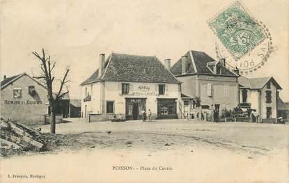 """CPA FRANCE 71 """"Poisson, Place du Centre""""."""