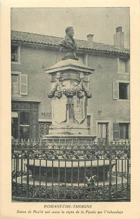 """CPA FRANCE 71 """"Romanèche Thorins, Statue de Raclet""""."""