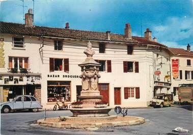 """CPSM FRANCE 71 """"Romanèche - Thorins, La Place Benoit Raclet""""."""