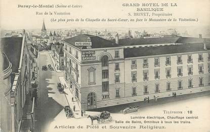 """CPA FRANCE 71 """"Paray le Monial, Le grand hôtel de la basilique""""."""