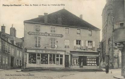 """CPA FRANCE 71 """"Paray le Monial, Rue du Palais et Place de l'Hôtel de Ville""""."""