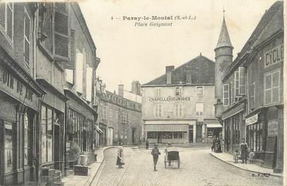 """CPA FRANCE 71 """"Paray le Monial, Place Guignaut""""."""