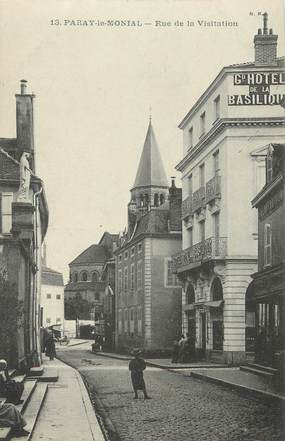 "CPA FRANCE 71 ""Paray le Monial, Rue de la Visitation""."