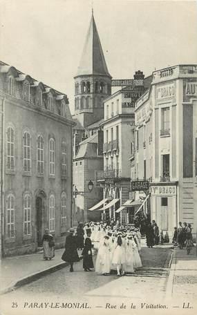 """CPA FRANCE 71 """"Paray le Monial, Rue de la Visitation""""."""