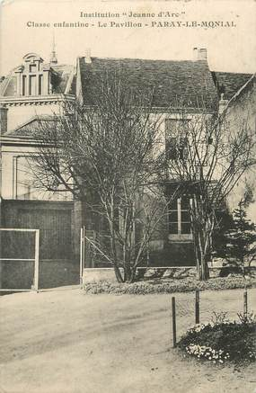 "CPA FRANCE 71 ""Paray le Monial, Institution Jeanne d'Arc""."