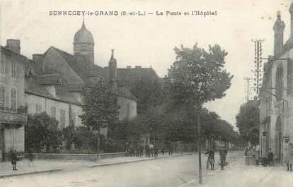 """CPA FRANCE 71 """"Sennecey le Grand, La Poste et l'Hôpital""""."""