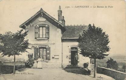"""CPA FRANCE 71 """"Sanvignes, Le bureau de Poste""""."""