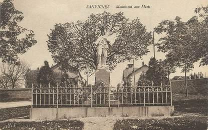"""CPA FRANCE 71 """"Sanvignes, Le monument aux morts""""."""