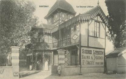 "CPA FRANCE 71 ""Santenay, La source lithium""."