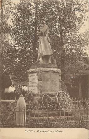 """CPA FRANCE 71"""" Sagy, Le monument aux morts""""."""