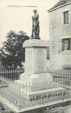 """CPA FRANCE 71"""" Suin, Le monument aux morts""""."""