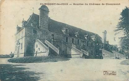 """CPA FRANCE 71 """" St Bonnet de Joux, Ecuries du château de Chaumont""""."""