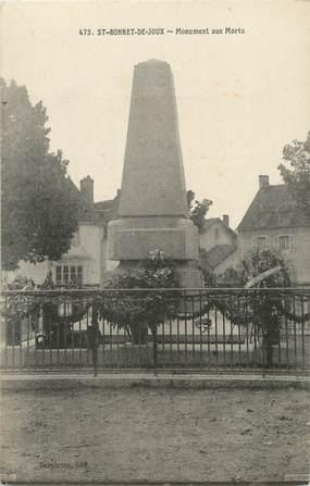 """CPA FRANCE 71 """" St Bonnet de Joux, Le monument aux morts""""."""