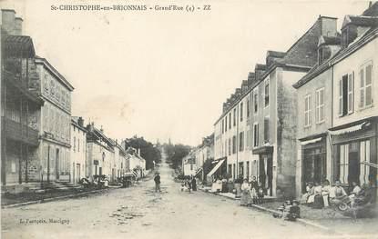 """CPA FRANCE 71 """" St Christophe en Brionnais, La grande rue""""."""