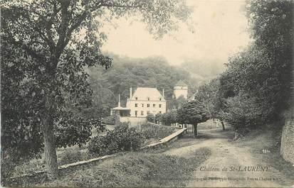 """CPA FRANCE 71 """" St Laurent, Le château""""."""