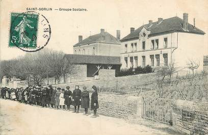 """CPA FRANCE 71 """" St Sorlin, Groupe scolaire""""."""