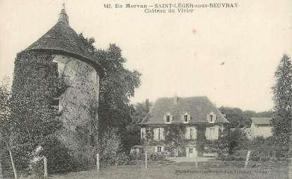 """CPA FRANCE 71 """" St Léger sous Beuvray, Le château du Vivier""""."""