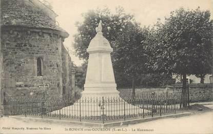 """CPA FRANCE 71 """" St Romain sous Gourdon, Le monument""""."""