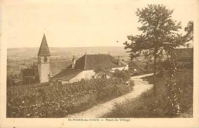 """CPA FRANCE 71 """" St Mard de Vaux, Haut du village""""."""