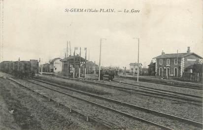 """CPA FRANCE 71 """" St Germain du Plain, La gare""""."""