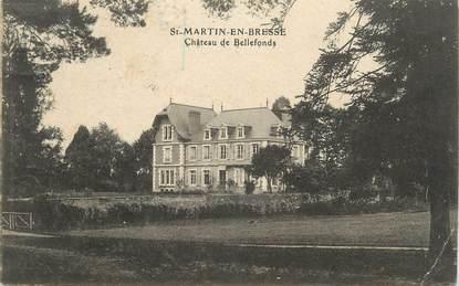 "CPA FRANCE 71 "" St Martin en Bresse, Château de Bellefonds""."