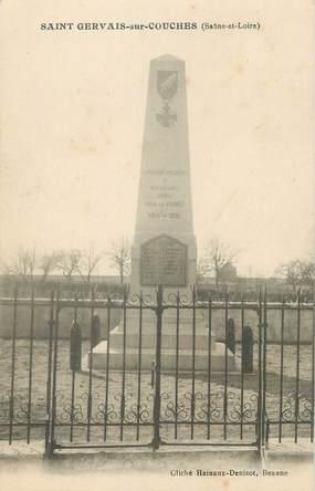 """CPA FRANCE 71 """" St Germain sur Couches, Le monument aux morts""""."""