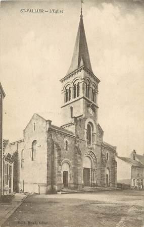"""CPA FRANCE 71 """" St Vallier, L'église""""."""