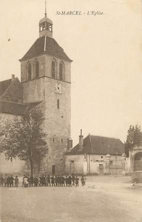 """CPA FRANCE 71 """" St Marcel, L'église""""."""