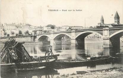 """CPA FRANCE 71 """" Tournus, Pont sur la Saône""""."""
