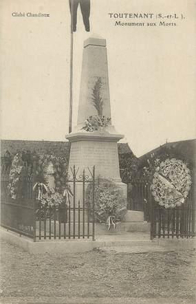 """CPA FRANCE 71 """" Toutenant, Le monument aux morts""""."""