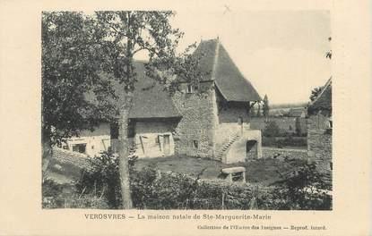 """CPA FRANCE 71 """" Verosvres, La maison natale de Ste Marguerite""""."""