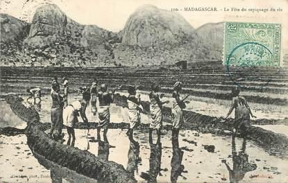 "CPA MADAGASCAR ""la Fête du repiquage du riz"""