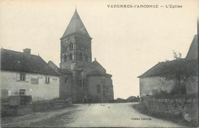 """CPA FRANCE 71 """" Varennes l'Arconce, L'église""""."""