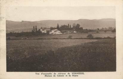 "CPA FRANCE 71 "" Verneuil, Le château""."